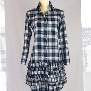 Fine Garments By Bell, Size 2, Flannel Plaid Dress